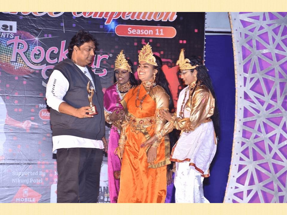 kumkum school award on dance competition sandesh season11 trophy